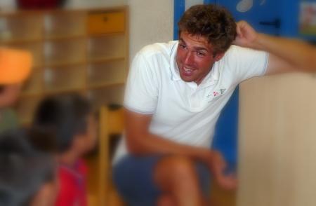 Alessandro Marega, campione di simpatia con i bambini